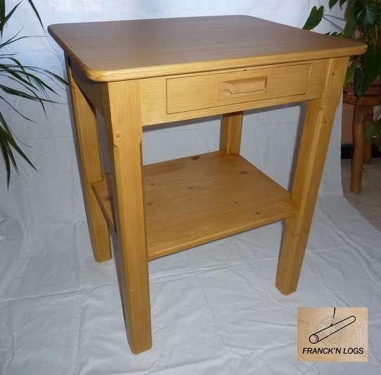 Franck 39 n logs objets bois for Petite table d appoint
